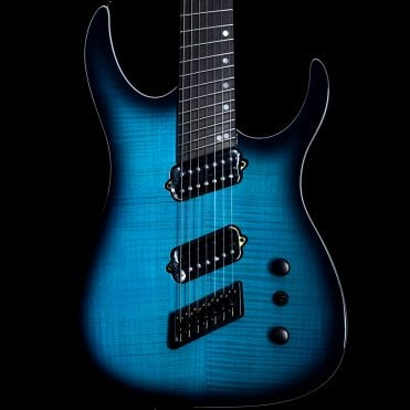 Hype GTR 7 7-String Multi Scale Electric Guitar, Beto Blue