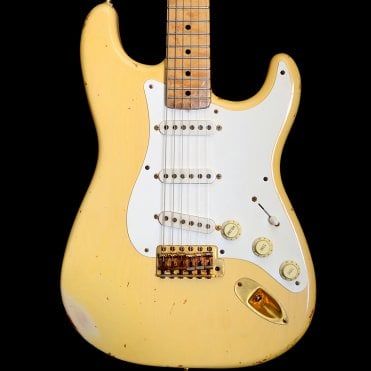 Custom Shop 1997 Vince Cunetto Relic Mary Kaye Stratocaster, Blonde, Pre Owned