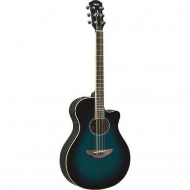 Yamaha APX600 Acoustic Guitar in Oriental Blue Burst (Refurbished)
