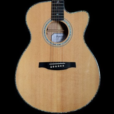 A55EBG Angelus Acoustic Guitar w/ Quilt Maple Back and Sides