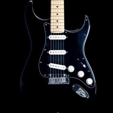 American Standard Stratocaster in Black with Bare Knuckle Trilogy Pickups, Pre-Owned