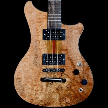 Juliet Natural Imbuya Solid Body with Blister Quilt Maple Top Electric Guitar, Pre Owned