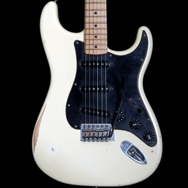 60's Roadworn Stratocaster Electric Guitar, Arctic White, Pre Owned