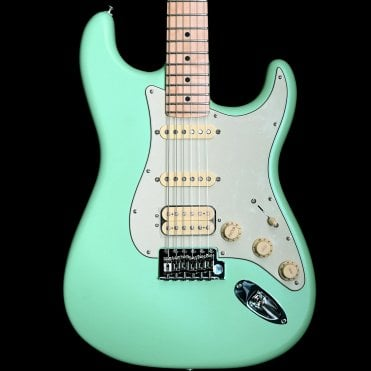 American Performer Stratocaster HSS Electric Guitar, Satin Surf Green
