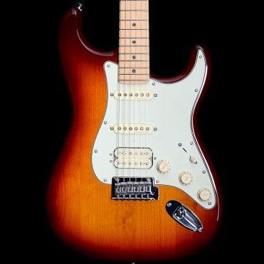 Deluxe Stratocaster HSS Electric Guitar, Tobacco Sunburst