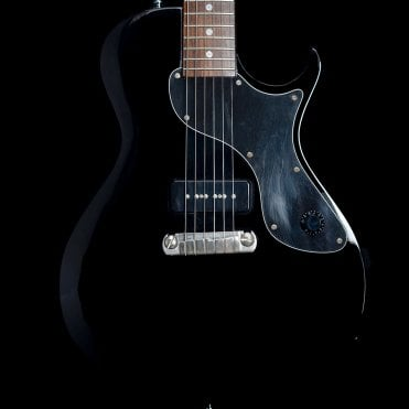 One Singlecut with Bare Knuckle Nantucket P-90 in Black, Pre Owned