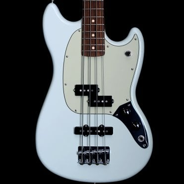 Offset Mustang Bass PJ in Sonic Blue, Pre-Owned
