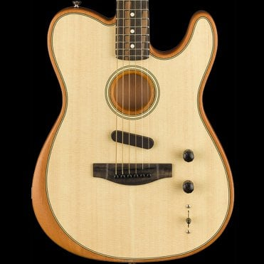 American Acoustasonic Acoustic/Electric Telecaster Guitar Hybrid, Natural