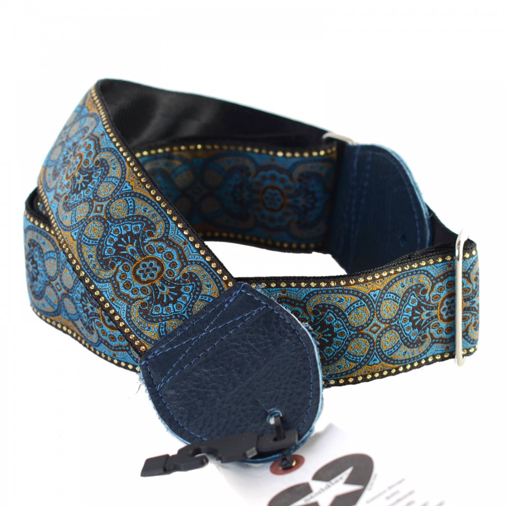 arabesque blue guitar strap from sound affects uk. Black Bedroom Furniture Sets. Home Design Ideas