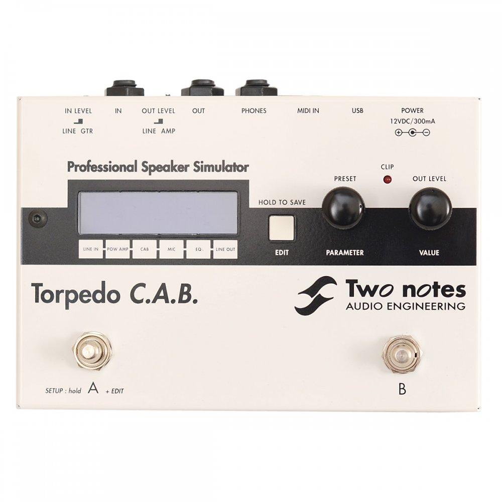 two notes torpedo c a b guitar cabinet speaker simulator. Black Bedroom Furniture Sets. Home Design Ideas