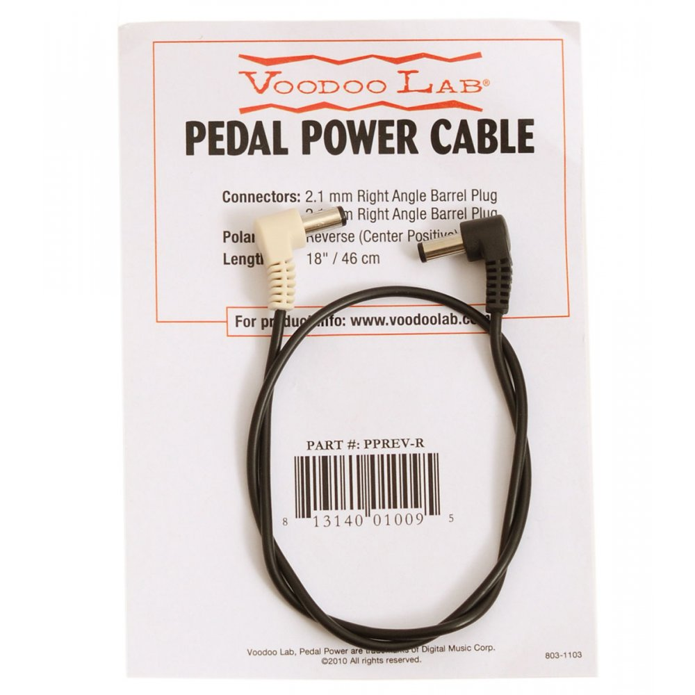 Voodoo Lab Pedal Power PPREV-R  2.1mm Right Angle Barrel Cable