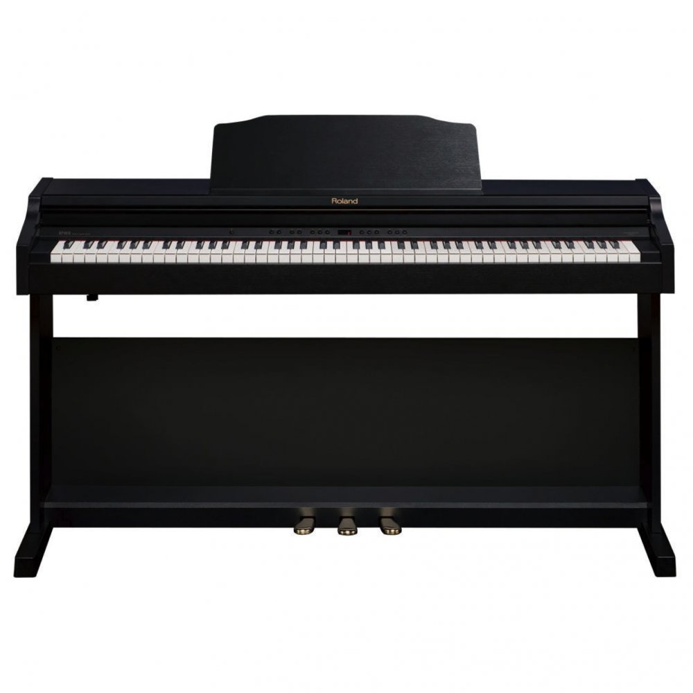 buy roland rp 401r contemporary black digital piano bundle with stool. Black Bedroom Furniture Sets. Home Design Ideas