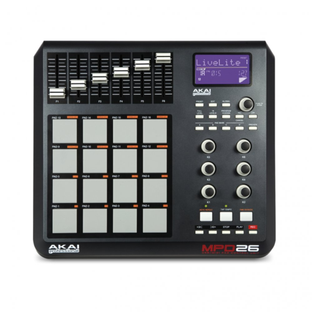 akai mpd 26 usb midi pad controller buy akai. Black Bedroom Furniture Sets. Home Design Ideas