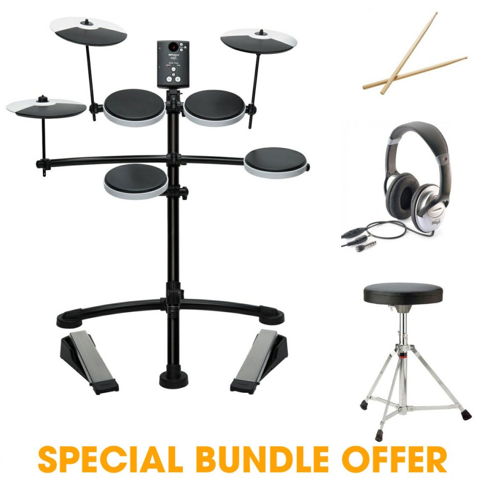 buy roland td 1k v compact electronic drum kit with accessory bundle. Black Bedroom Furniture Sets. Home Design Ideas