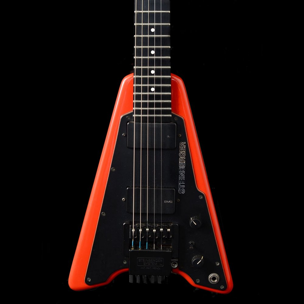 Steinberger Headless V Guitar In Red, 1987 Pre-Owned
