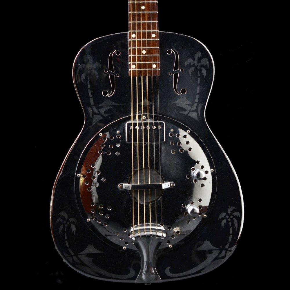 1975 dobro metal resonator guitar model 33 with humbucker hawaiian. Black Bedroom Furniture Sets. Home Design Ideas