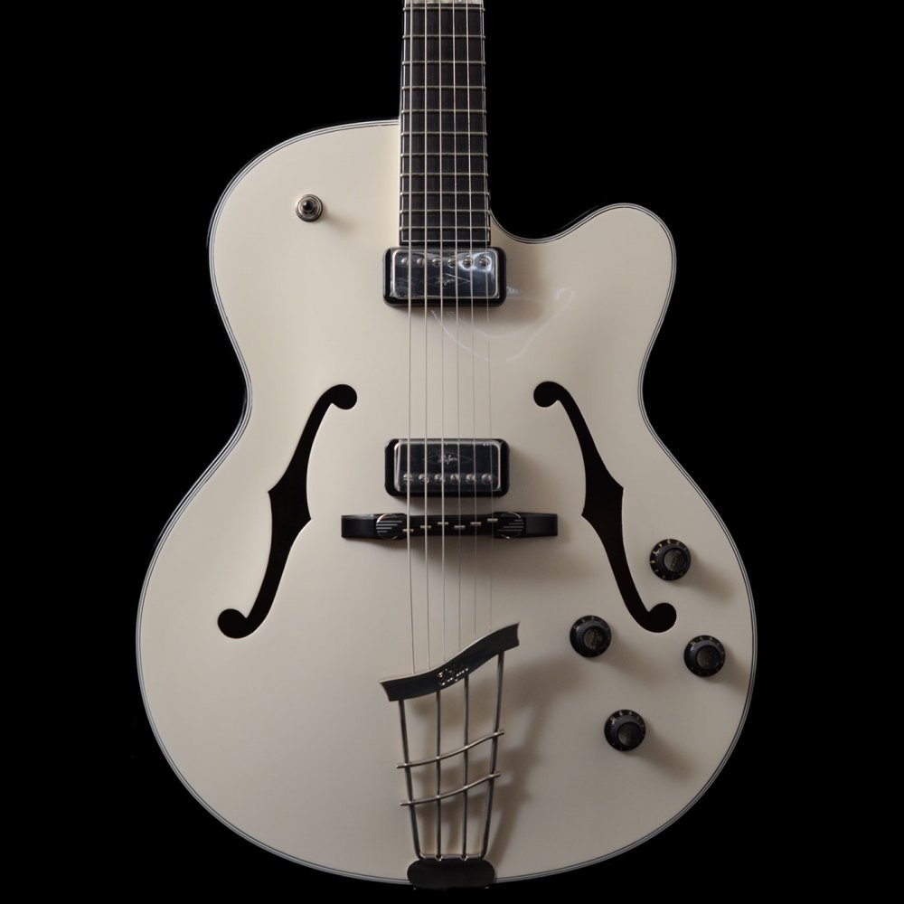 hofner new president archtop made in germany ivory electric guitar. Black Bedroom Furniture Sets. Home Design Ideas