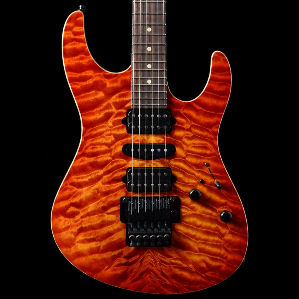 pre owned suhr modern fireburst quilt top 2010 floyd rose excellent. Black Bedroom Furniture Sets. Home Design Ideas