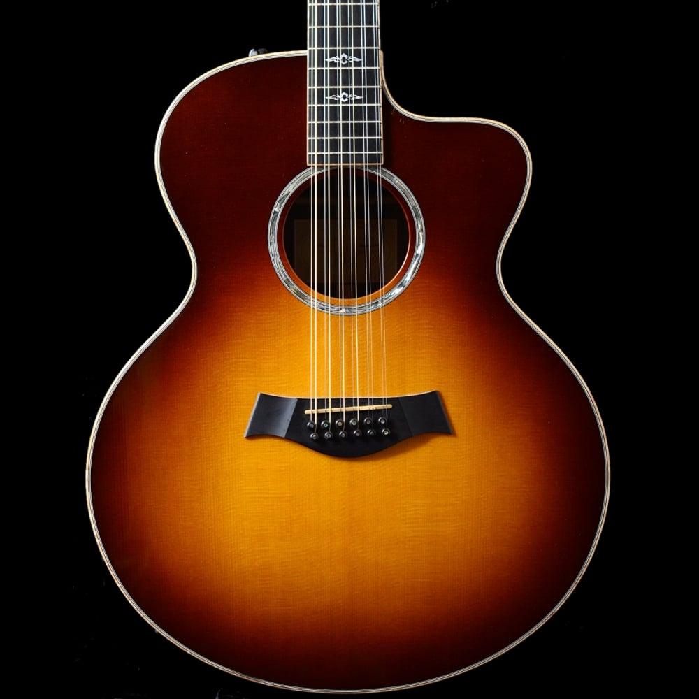 pre owned taylor 855ce 12 string electro acoustic in sunburst. Black Bedroom Furniture Sets. Home Design Ideas