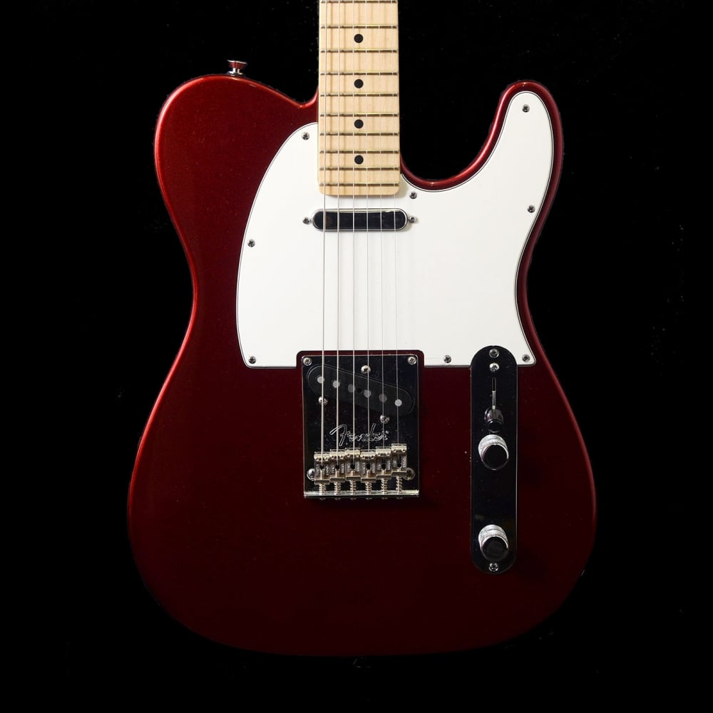 2012 fender american standard telecaster electric guitar in candy apple red maple fretboard. Black Bedroom Furniture Sets. Home Design Ideas