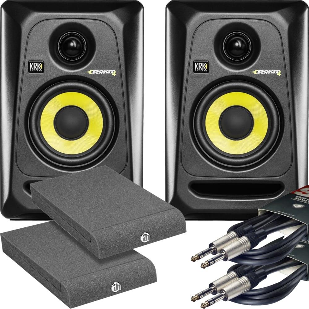 pair of krk rp4 monitors isolation pads leads buy krk. Black Bedroom Furniture Sets. Home Design Ideas