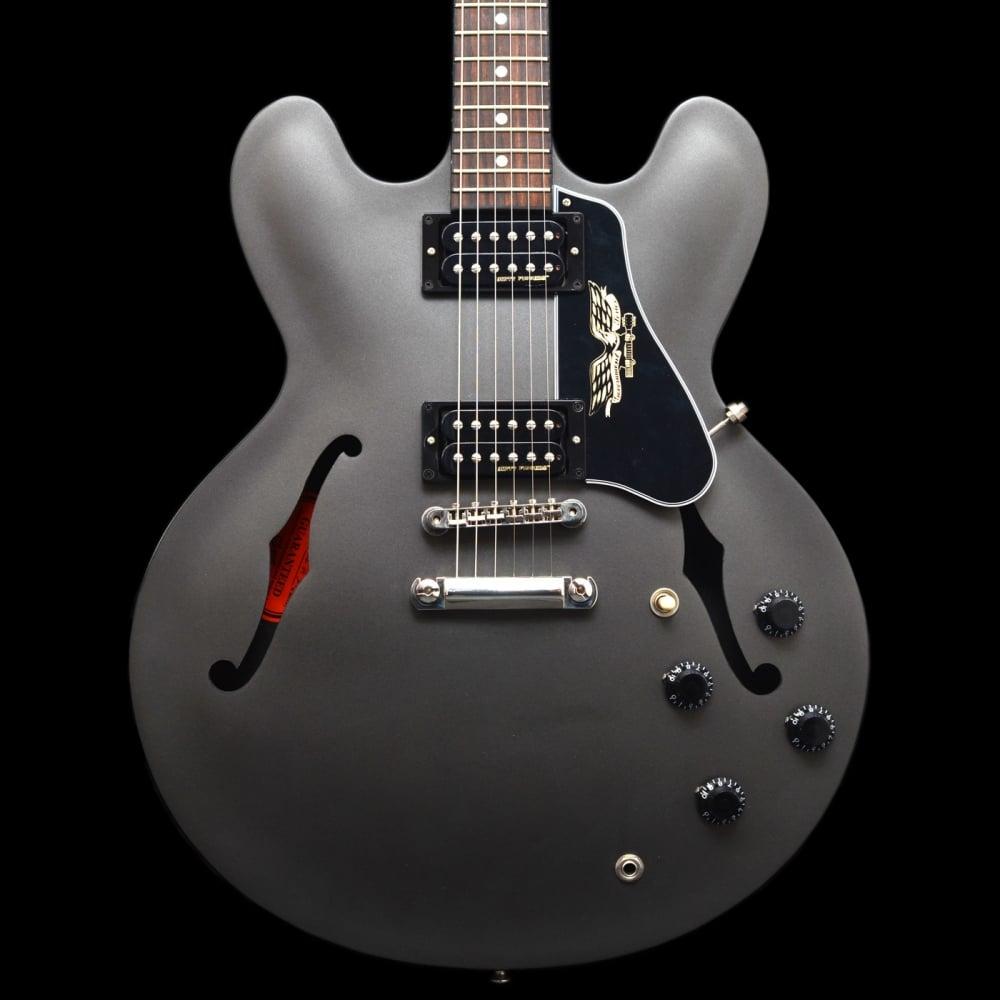 gibson es 335 government series electric guitar matte black pre owned. Black Bedroom Furniture Sets. Home Design Ideas
