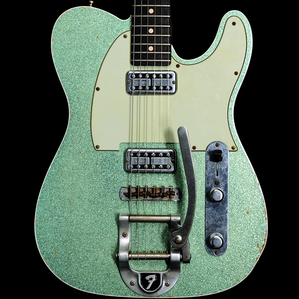 custom shop sea foam green sparkle telecaster with bigsby. Black Bedroom Furniture Sets. Home Design Ideas