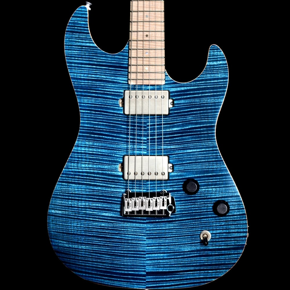 Patrick James Eggle 96 Drop Top Twin Electric Guitar in Trans Blue